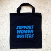support women writers tote bag